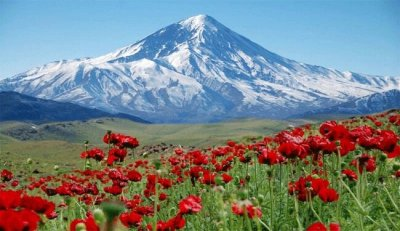 یک برش از کوه دماوند