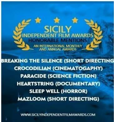 مستندساز مازندرانی دیپلم افتخار جشنواره بین المللی فیلم سیسیل ایتالیا را کسب کرد